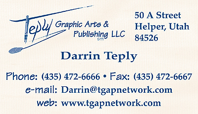 Teply Graphic Arts & Publishing, LLC Helper, Utah Contact Info
